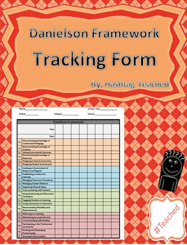 Danielson Evaluation Framework Tracking Form
