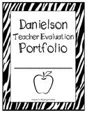 Danielson Evaluation Portfolio Template (Black & White)