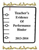 Editable Microsoft Word Danielson Evidence Binder for APPR