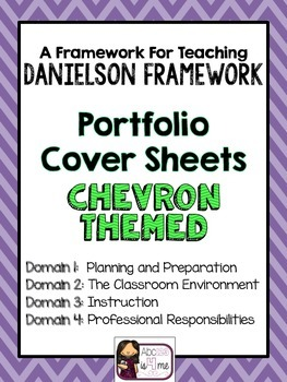 Evidence Binder Sheets- 4 Domains- Chevron Background