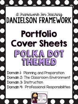 Evidence Binder Sheets- 4 Domains-POLKA DOT Theme