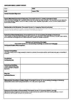 danielson model lesson plan template by dotdotdot tpt