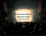 Danielson Rubric Keywords Application to Music