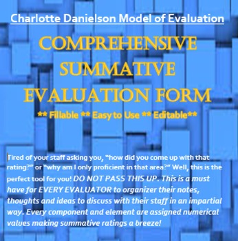 Danielson Summative Rating Guide