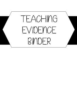 Danielson Teacher Evidence Binder