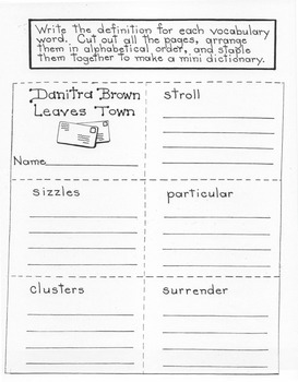 Danitra Brown Leaves Town: 4th Grade Harcourt Storytown Lesson 3