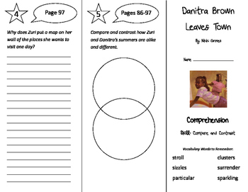 Danitra Brown Leaves Town Trifold - Storytown 4th Grade Unit 1 Week 3
