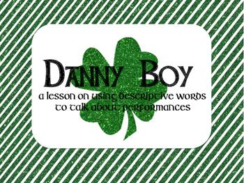 Danny Boy: A Lesson to Teach Descriptive Words