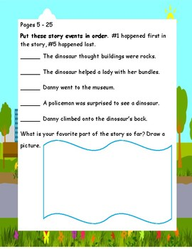Danny and the Dinosaur by Syd Hoff Study Guide Teaching Unit  Beginning Readers