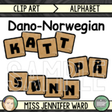Dano-Norwegian Alphabet Tiles Clip Art