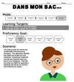 Dans Mon Sac... Presentational Speaking Prompt for Novice-Mid Learners