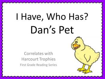 "Dan's Pet ""I HAVE, WHO HAS?"" Sight Word Practice for Harcourt Trophies"