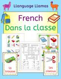 French classroom - Dans la classe - school vocabulary activities, puzzles, games