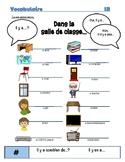 Dans la salle de classe Vocabulary Organizer (Bien Dit! 1