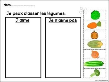 Dans le jardin French Garden Reader, Sorting page & Vocab work {les légumes}
