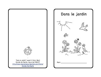 Dans le jardin In the garden Spring French Theme Pack