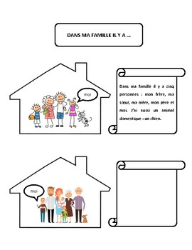 Dans ma famille il y a, family vocab. writing and speaking practice in French