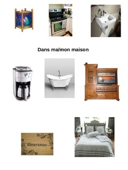 Dans ma maison/In my house bilingual flash cards