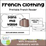 Dans ma valise French Clothing Reader {livre en français} & Cut & Paste Activity