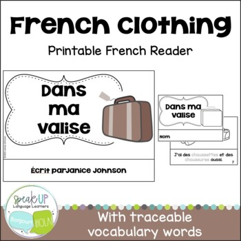 Dans Ma Valise French Clothing Reader Cut Paste Activity