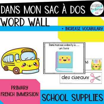 Dans mon sac d'école il y a I French back to school vocabulary booklet