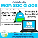 French School Supply Reader {Dans mon sac à dos}  & Cut &