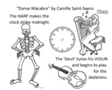 Danse Macabre-easy COLORING and FOLLOW worksheet