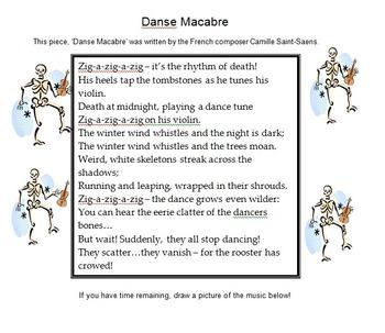 Danse Macabre worksheet