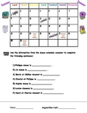 Danser calendar fill-in activity