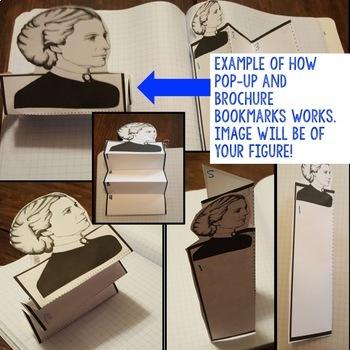 Dante Biography Research, Bookmark Brochure, Pop-Up Writing Google