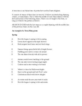 Dante's Inferno Original Canto Assignment