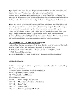 Dante's Inferno Lecture Notes, Cantos 20-22