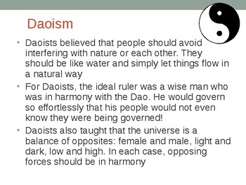 Daoism and Legalism