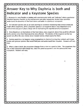 Daphnia as an Indicator and Keystone Species