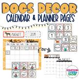 Dog Theme | Calendar | EDITABLE