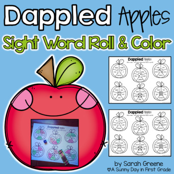 Dappled Apples {Sight Word Roll & Color!}