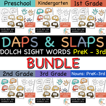 Daps & Slaps: Dolch Sight Words BUNDLE for PreK - 3RD