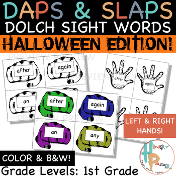 Daps & Slaps: Dolch Sight Words for 1ST GRADE {Halloween Edition}