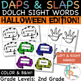 Daps & Slaps: Dolch Sight Words for 2ND Grade {Halloween Edition}