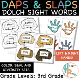 Daps & Slaps: Dolch Sight Words for 3RD Grade