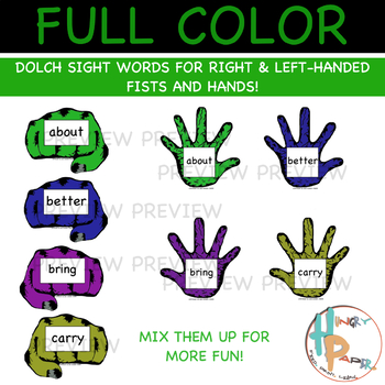 Daps & Slaps: Dolch Sight Words for 3RD Grade {Halloween Edition}