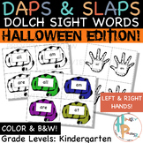 Daps & Slaps: Dolch Sight Words for Kindergarten {Hallowee