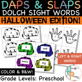 Daps & Slaps: Dolch Sight Words for PreK {Halloween Edition}