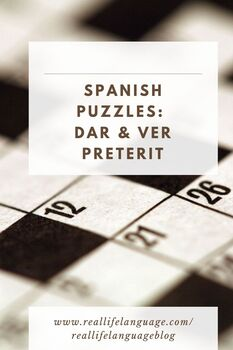 Dar and Ver Preterit Crossword for Students of Spanish