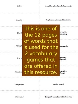 Dar and the Spear-Thrower Vocabulary Activities