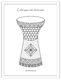 Darbouka (Middle Eastern Drum) Free Coloring Page