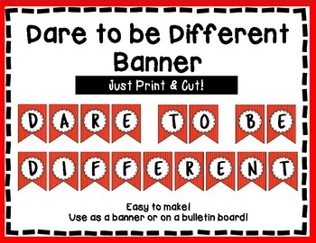 Dare to be Different Banner - Bulletin Board - Red