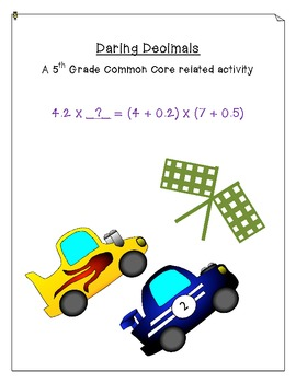 Daring Decimals: Common Core Activity