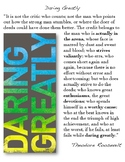 Daring Greatly Quote (Poster)