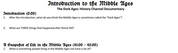 Dark Ages History Channel Documentary Questions